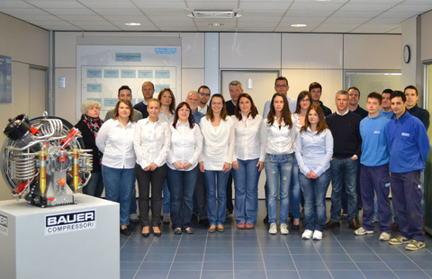 The team of the BAUER subsidiary in Italy