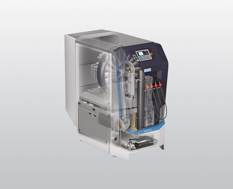 Super-Silent version of the BAUER VERTICUS breathing air compressor with B-CONTROL MICRO compressor control